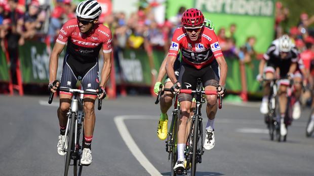 Contador y Froome, en la llegada de Santo Toribio de Liébana