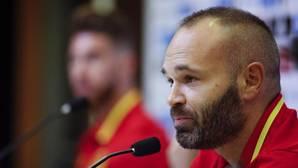 Andrés Inietsa durante una comparecencia con la selección española