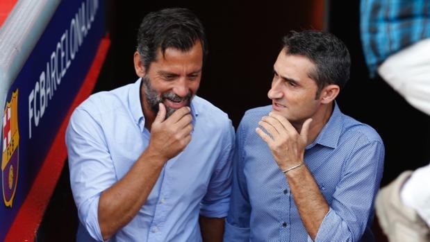 Ernesto Valverde y Quique Sánchez Flores se citaron en el Camp Nou este viernes