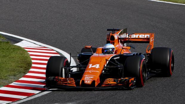 Fernando Alonso, al volante del McLaren en Suzuka