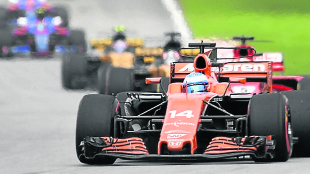 Fernando Alonso, durante el Mundial de F1 2017