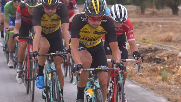 Juanjo Lobato, durante la pasada Vuelta a España