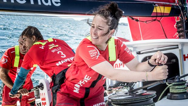 Támara Echegoyen, en la Volvo Ocean Race a bordo del «Mapfre»