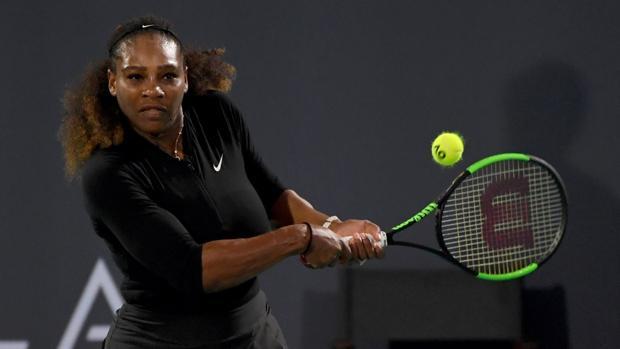 Serena Williams, durante el torneo de Abu Dabi
