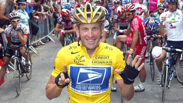 Lance Armstrong durante el Tour de Francia de 2004