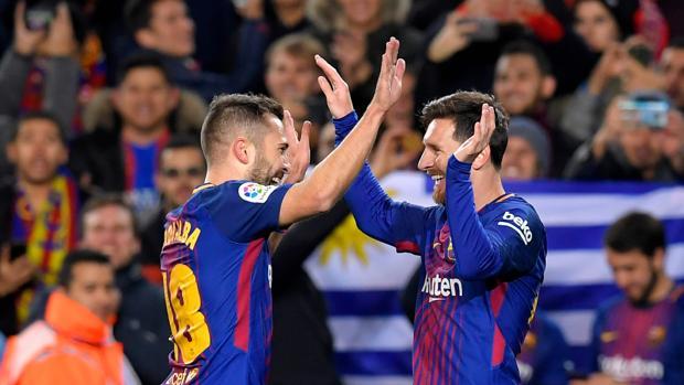 La sociedad Jordi Alba-Messi hizo estragos en la defensa del Celta