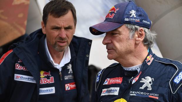 Carlos Sainz, líder del Dakar