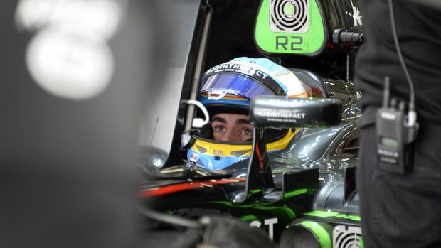 Alonso, en el McLaren