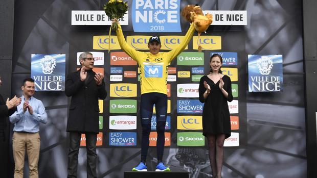 Marc Soler en el podio