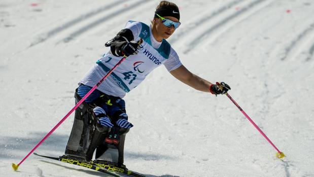 La estadounidense Oksana Masters, en los Juegos de Pyeongchang