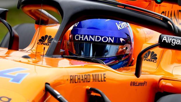Alonso, al volante del McLaren