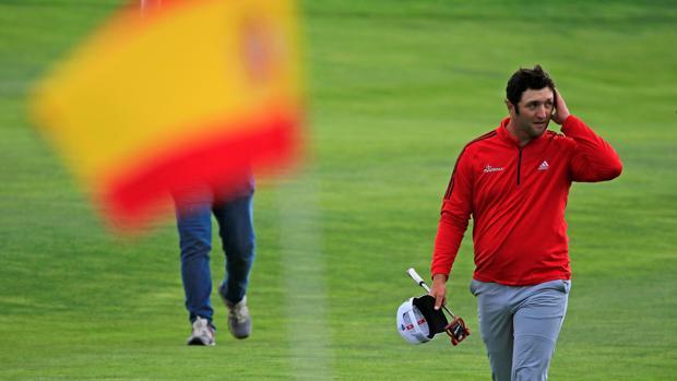 Jon Rahm, durante la última ronda del Open de España en Madrid