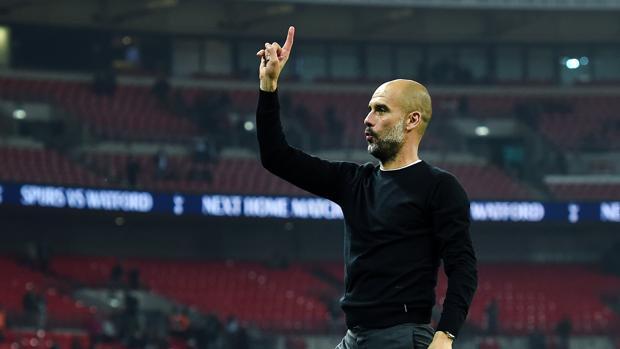 Guardiola celebra el triunfo frente al Tottenham del pasado sábado