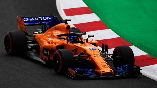Alonso, durante la carrera