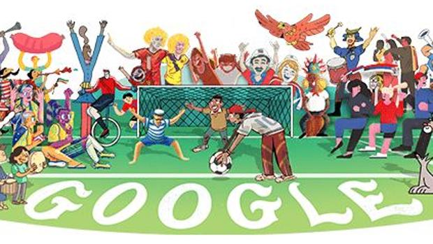 Doodle de Google para celebrar el comienzo del Mundial de fútbol de Rusia 2018