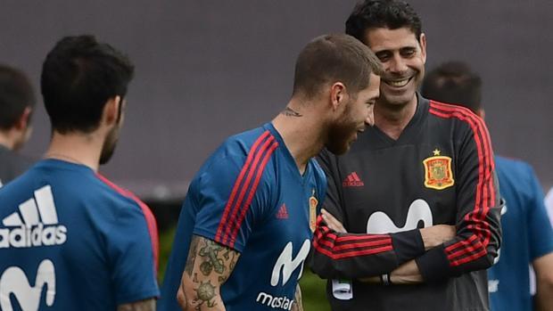 Sergio Ramos, durante un entrenamiento