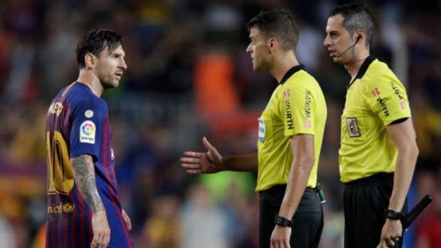 Messi tras la finalización del partido entre el Barcelona y el Girona en el Camp Nou