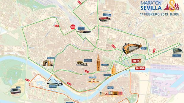 Recorrido de la Zurich Maratón de Sevilla 2019