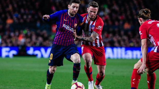 Leo Messi, el sábado durante el partido contra el Atlético de Madrid