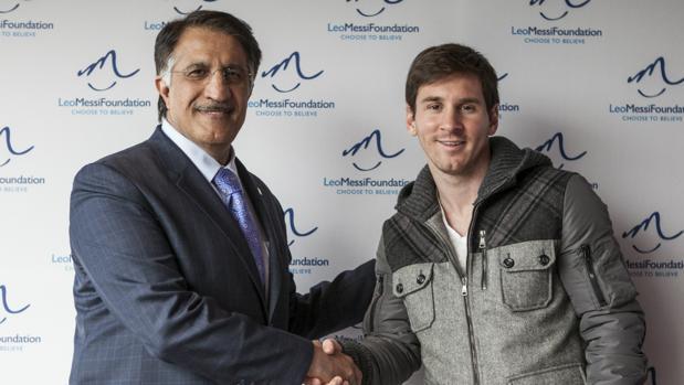 Leo Messi, en un acto de su fundación en Qatar