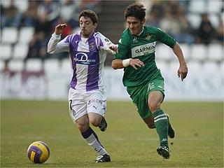 Real Betis: Sisi con Edu, durante un partido de Liga