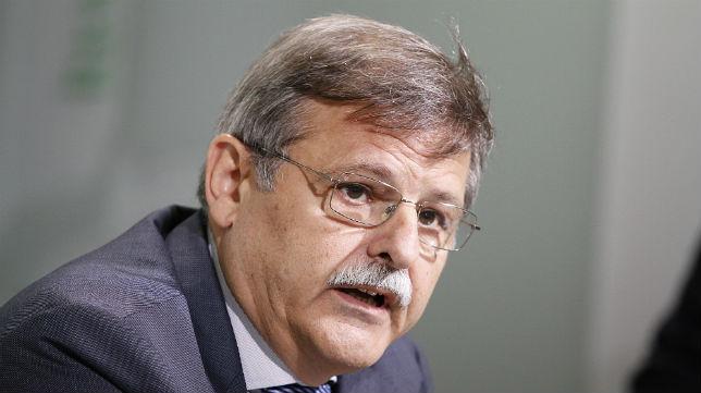 José Antonio Bosch, durante una rueda de prensa del Betis