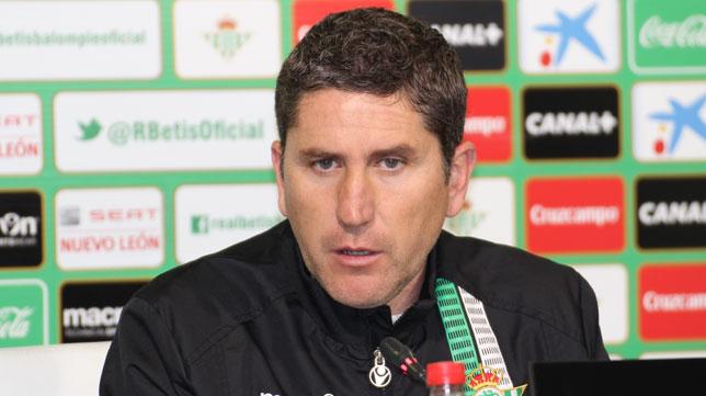 Juan Carlos Garrido, en la rueda de prensa de ayer