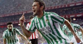 Molina celebra un gol ante el Athletic en San Mamés
