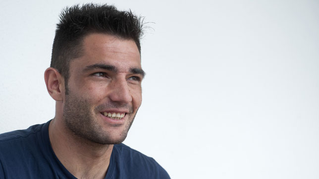 Antonio Adán sonríe en un momento de la entrevista concedida a ABC de Sevilla