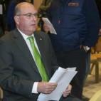 Manuel Castaño, durante una junta de accionistas