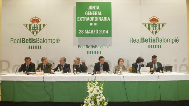 Mesa de la Junta General de Accionistas de 2014