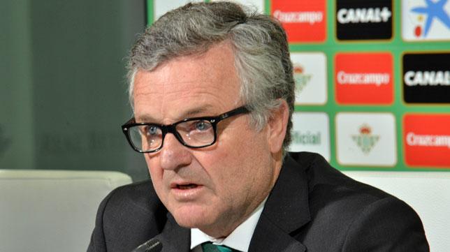 Manuel Domínguez Platas, presidente del Real Betis