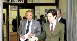 Luis Oliver, consejero delegado de Bitton Sport, a la salida de los juzgados