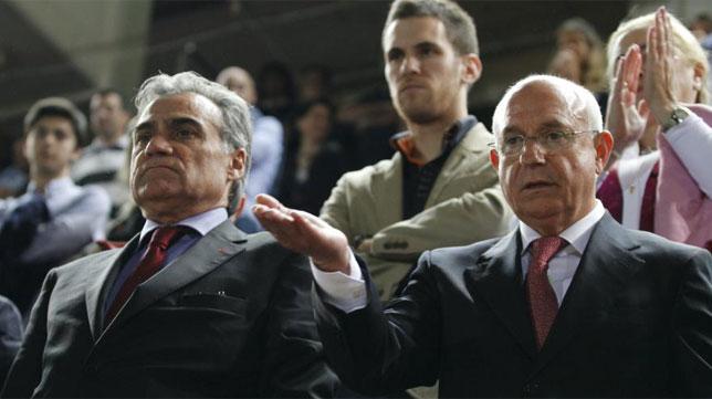 Una imagen imposible de ver hoy día: Cerdá y Serra Ferrer juntos en el Iberostar