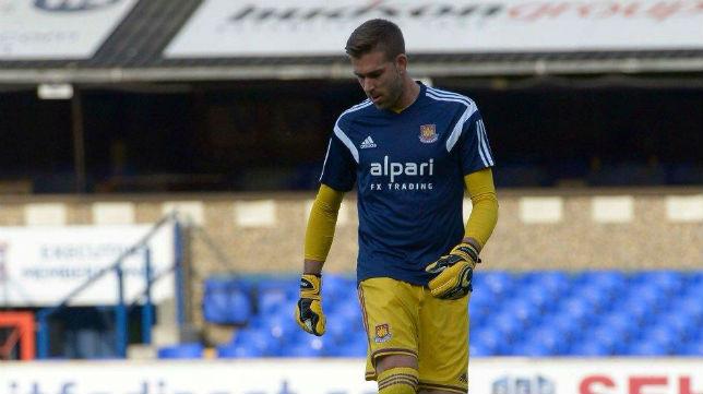 Adrián San Miguel, portero del West Ham.