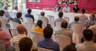 Imagen de archivo de una asamblea de Por Nuestro Betis (FOTO: Millán Herce)