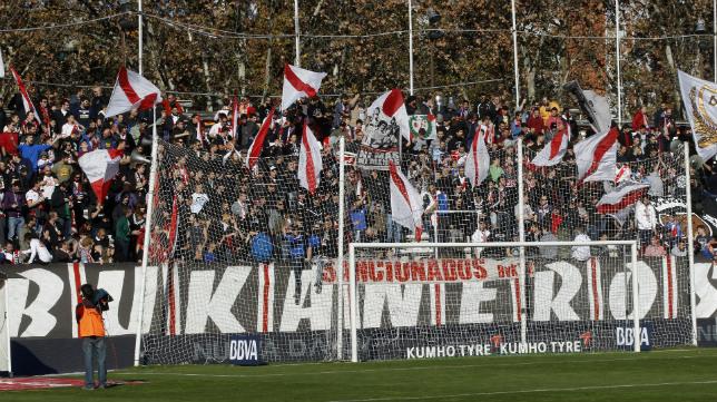 """Grada de los """"Bukaneros"""" durante el Rayo-Sevilla del pasado domingo"""