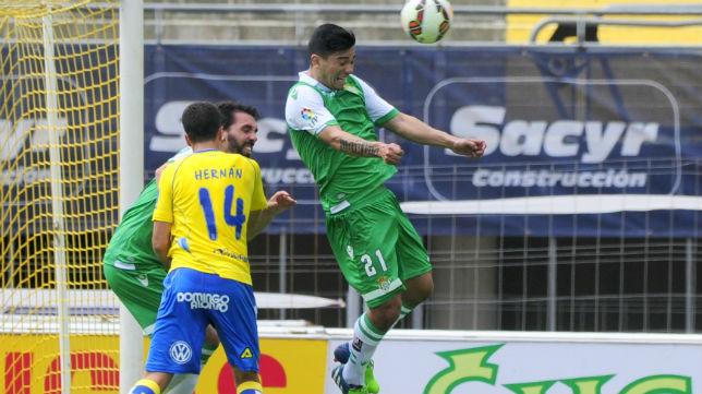 Lolo Reyes, en el Las Palmas-Betis