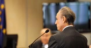 Lopera, en un juicio (Foto: Raúl Doblado)