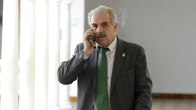 Juan de Dios Álvarez, presidente de la Federación de Peñas del Betis (Foto: Jesús Spínola)