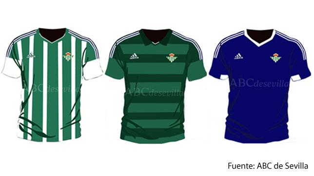 Los diseños de Adidas para el Betis 2015-16 (Fuente: ABC de Sevilla).