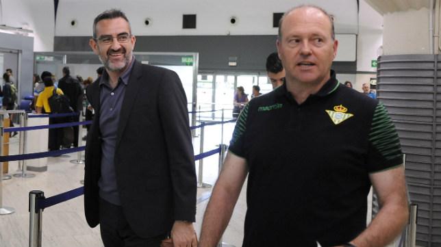 Eduardo Macià y Pepe Mel en un viaje de la pasada temporada (Foto: Jesús Spínola)