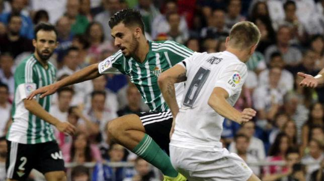 Ceballos, en el partido ante el Real Madrid (foto: EFE)