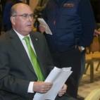 Manolo Castaño, en la última Junta de Accionistas del Betis (Foto: J. J. Úbeda)