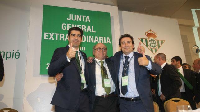Ángel Haro, Juan Carlos Ollero y José Miguel López Catalán (Foto: Raúl Doblado)
