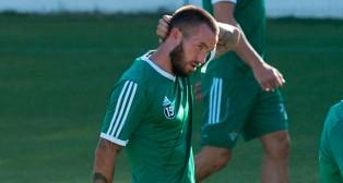 Digard, durante un entrenamiento del Betis