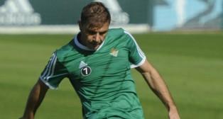 Joaquín, durante un entrenamiento del Betis (Foto: J. J. Úbeda)