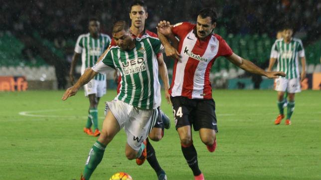 Joaquín, en el partido ante el Athletic