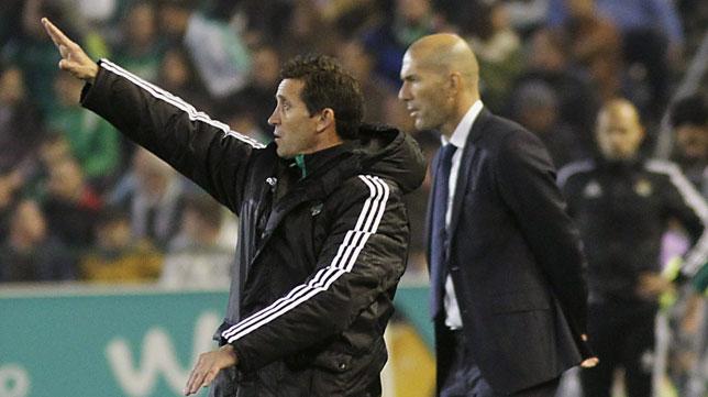 Merino y Zidane, en la banda