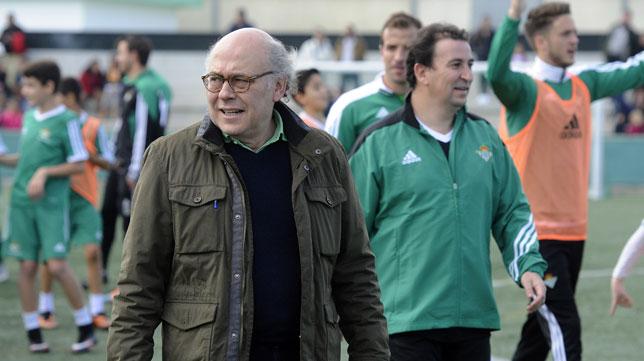 Ollero y Catalán, en la ciudad deportiva del Betis